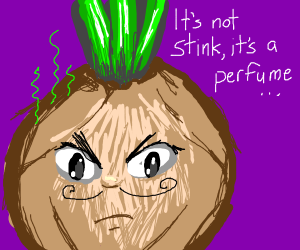 smelly onion denies his stench