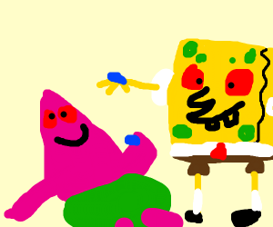 Patrick and Spongebob on LSD