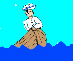 Sailor on a boat