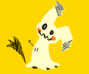 Mimikyu waving hello! -w-
