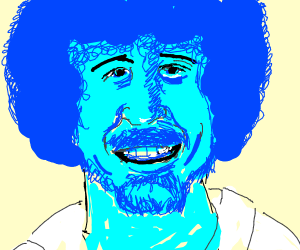 blue bob ross head?