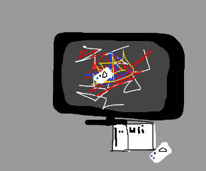 wii remote thrown on tv
