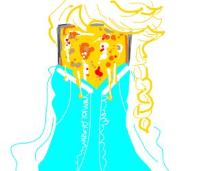 Elsa is made of lasagna