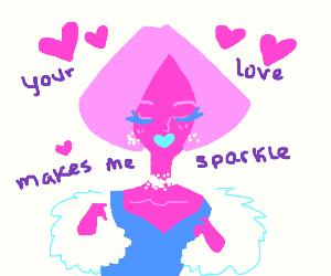 Your love makes me sparkle