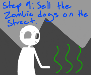 Step 8: the dogs... turned into zombies???!