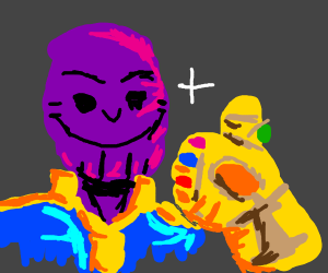 Thanos in happy with the Infinity Gauntlet