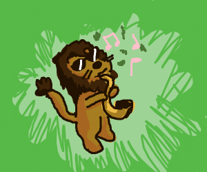 cool, jazzy lion