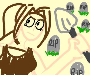 Lara Croft Robs Graveyard