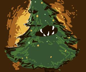 Evil Christmas.Evil Christmas Tree Drawception