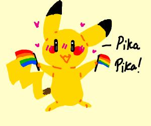 Pikachu but gay