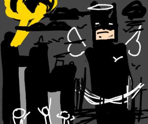Batman is a giant angel