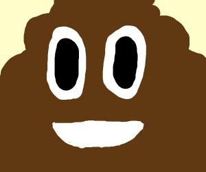 Closeup of smiley poop emoji.