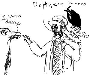 Jotaro vs. A dolphin that wants a divorce