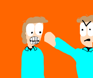 John Arbuckle gets punched by his reflection