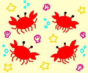 Four Crabs