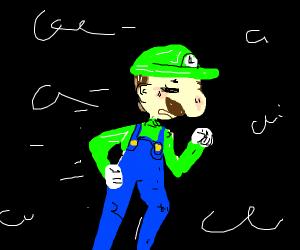 Luigi runs away
