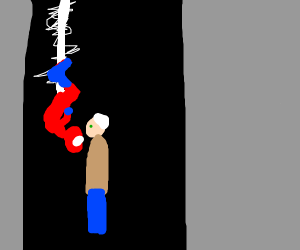 Peter Parker kissing grandpa
