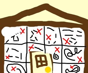 house with a lot of treasure maps on it