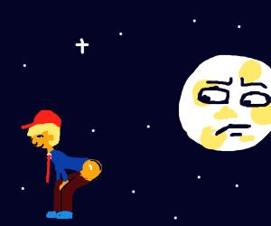 Trump moons the Moon
