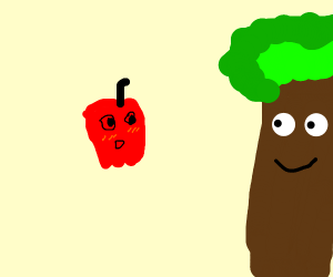 Apple likes trees very much