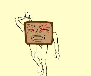 Agressive Toast (like with drinks)