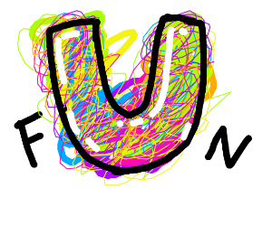 Fun but the U is bigger and colorful