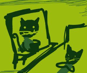 Cat Psychologist at Work