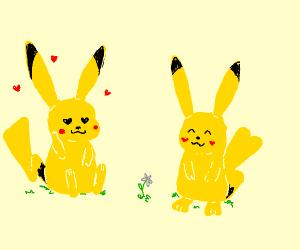 pikachu is in love
