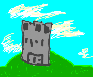 A castle on a hill