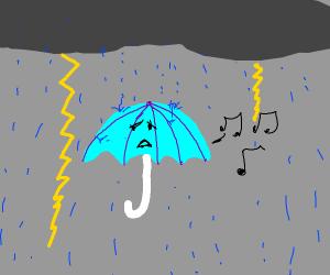 Depressed umbrella singing