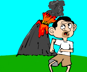 bean is going to die from volcano