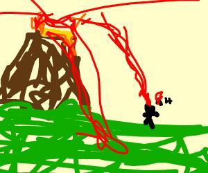 volcano killing man
