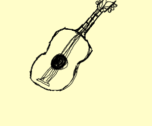 A lovely acoustic guitar