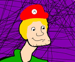 Shaggy with Mario Hat