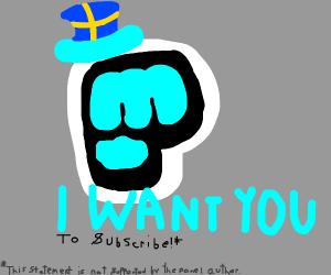 Subscribe to PewDiePie propaganda
