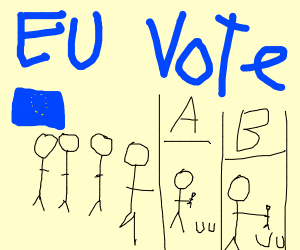 European elections but with people for ballot