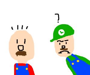 Mario is Bald, Luigi is very confused