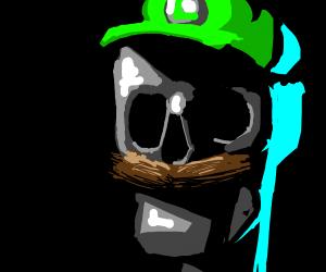 Luigi as a skeleton