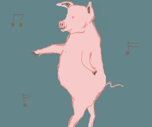 pig dancing