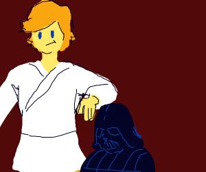Luke is way taller then Vader