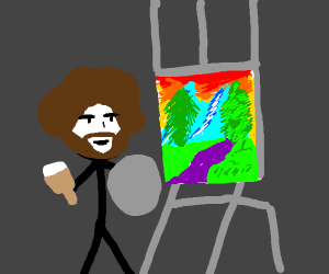 Stick Man Bob Ross