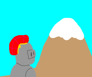 knights look at a mountain