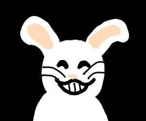 Bunny grinning