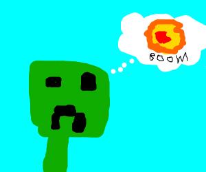 MC Creeper dreams of exploding