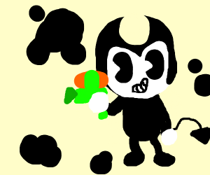 Bendy making a mess with ink
