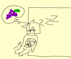 Guard dreaming of Grapes