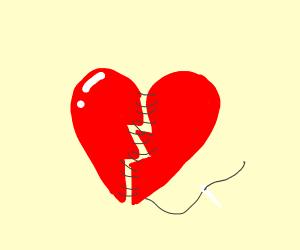broken heart got stitched back up
