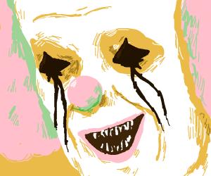 A clown with trypophobia