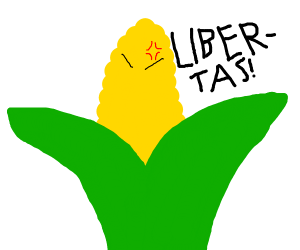 Angry corn makes bid for freedom!