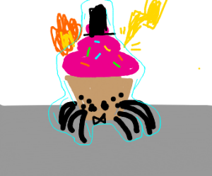 Immortal handsome spider cupcake